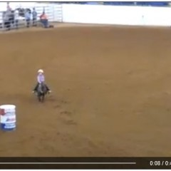 The Most Adorable Barrel Racer You'll Ever See!