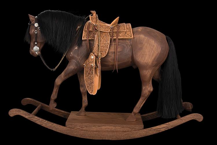 This beautiful rocking horse stands 33 inches at the withers and carries the finest tack you can find. Photo courtesy National Cowboy & Western Heritage Museum.