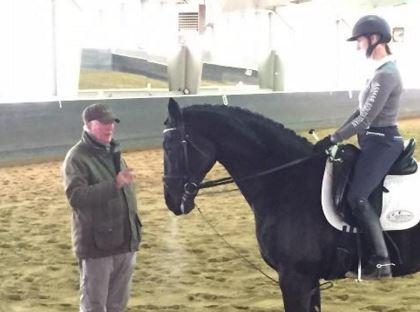 Mr. Schumacher giving instruction to my friend.