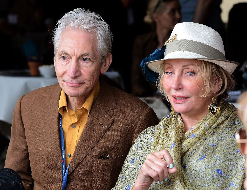 The Rolling Stones Drummer, Charlie Watts and his wife Shirley watch a presentation of horses in Janow Podlaski on August 12, 2012 (AFP Photo/Janek Skarzynski)