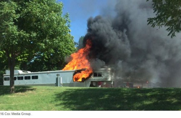 horse trailer fire