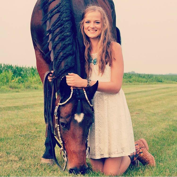 Young Kiley and her horse. Photo from Facebook.